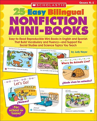 25 Easy Bilingual Nonfiction Mini-books By Nayer, Judy